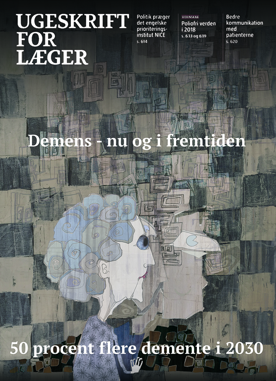 Illustration til Ugeskrift for læger om demens.